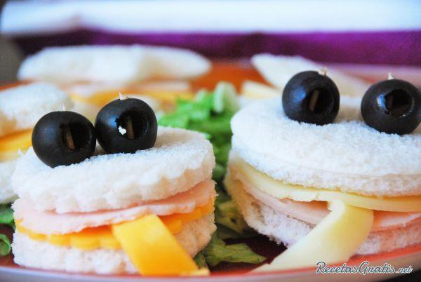 Receta de Sándwiches para fiestas infantiles - Fácil