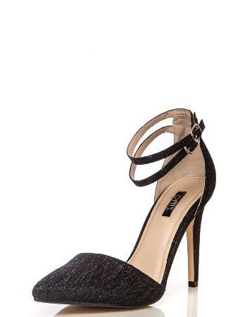 0aee25f3e12 Dorothy Perkins Womens  Quiz Black Glitter Strap Shoes- Black These shoes  have all over