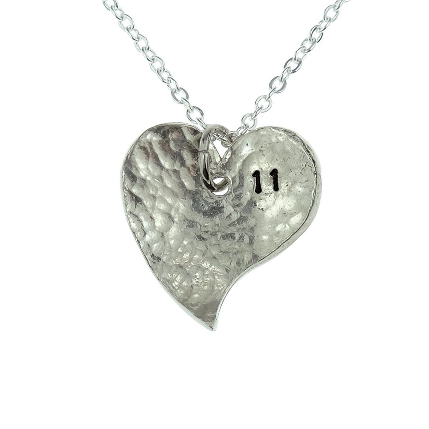 11th Anniversary Heart Necklace