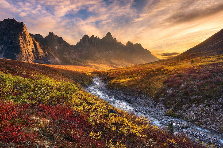 Mountain Paradise by Chris Moore   Earth Shots Tombstone Mountain, Ogilvie Wilderness, Yukon Territory