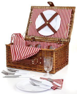 Martha Stewart Collection Brown Wicker Picnic Basket