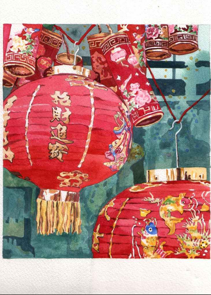 Watercolor Asian Art Watercolor Art Painting