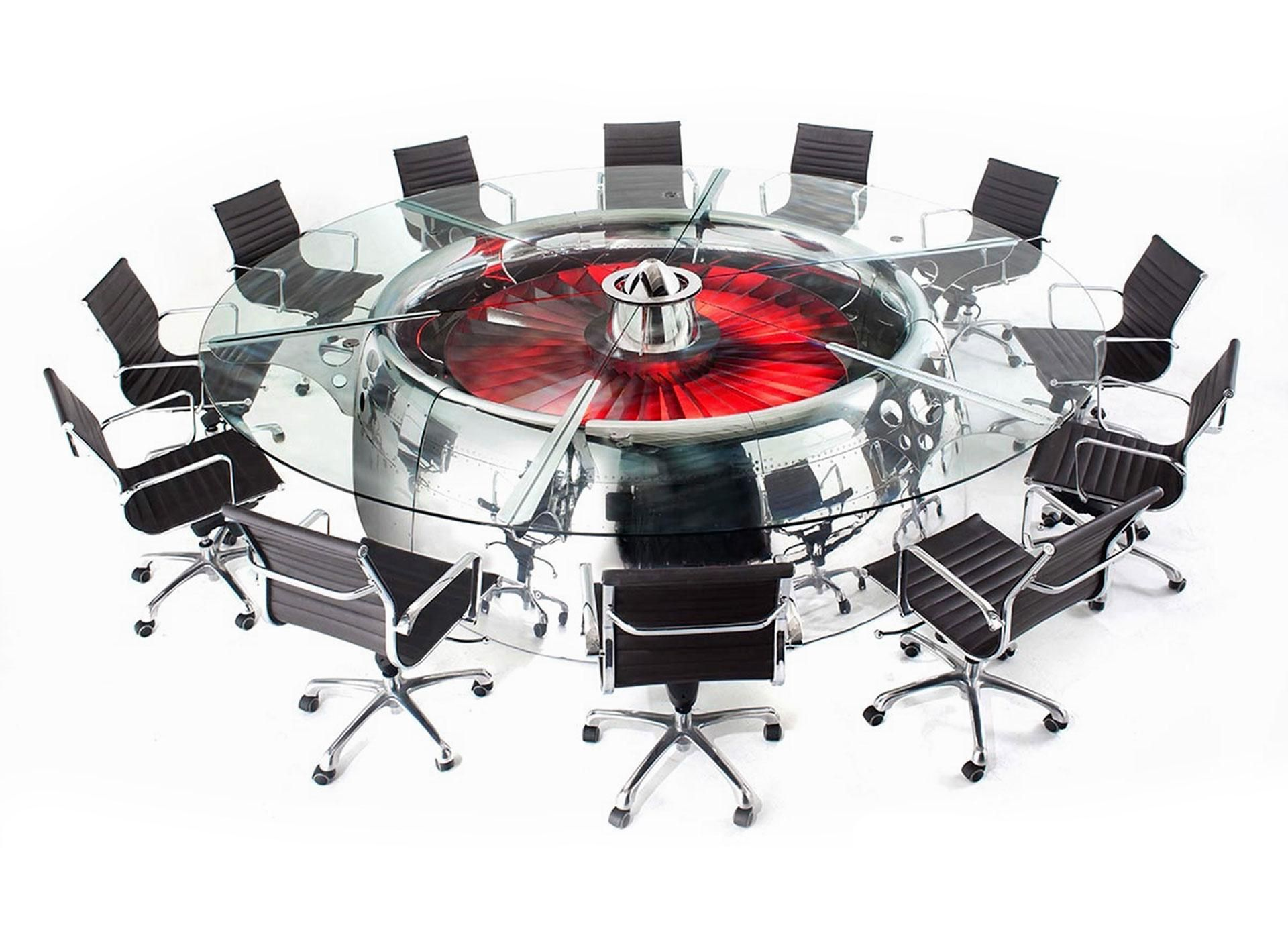 boeing 747 jumbo jet engine turned into conference table | huge