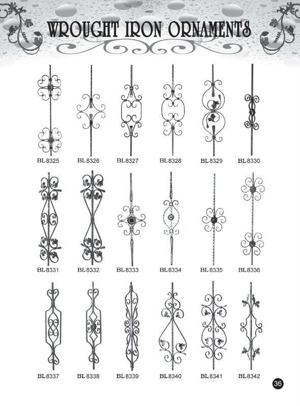 2013 factory cast iron balcony banister design for railings staircase fence Viebalcony