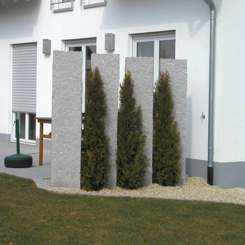 Bildergebnis für sichtschutz garten granit | Lanscaping | Pinterest ...