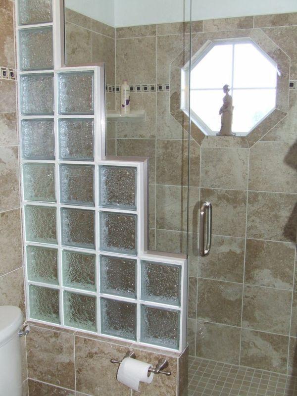 Glasbausteine Für Dusche Eleganter Look Badezimmer Pinterest