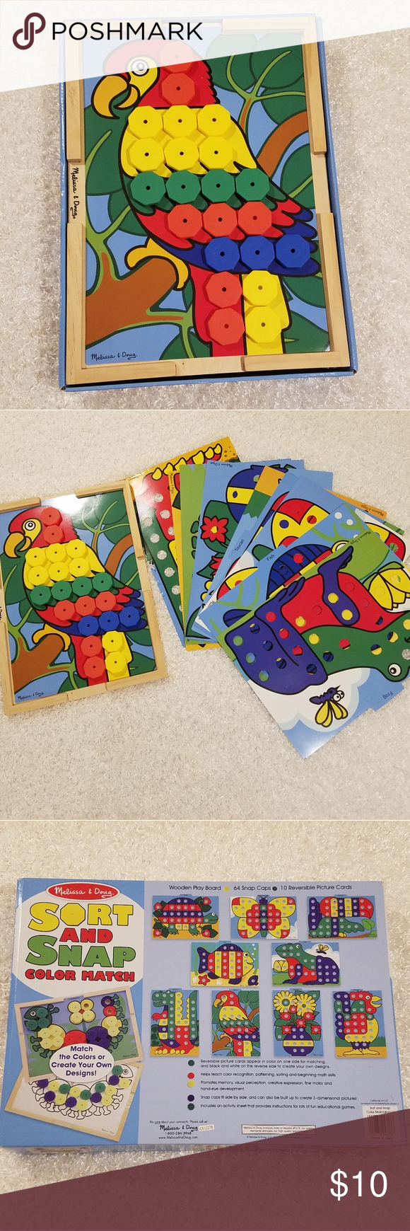 Melissa & Doug Sort and Snap Color Match Patterns (With ...