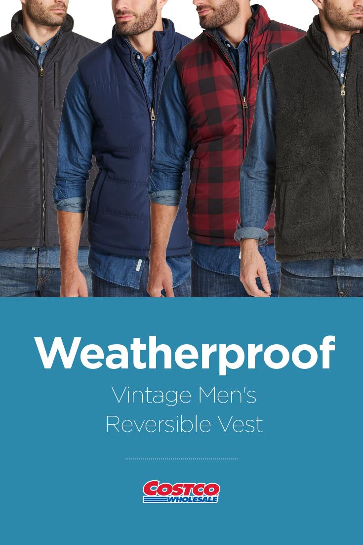 73d9960b8a Weatherproof Vintage Men s Reversible Vest Costco