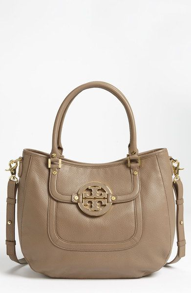 Tory Burch Brown Amanda Leather Hobo