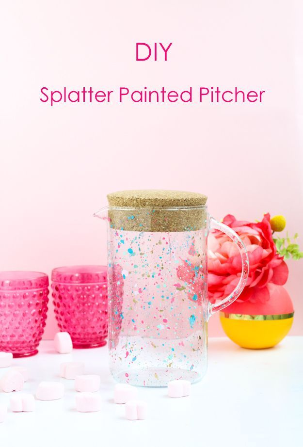Diy It A Splatter Painted Drink Pitcher Modern Crafts Craft And