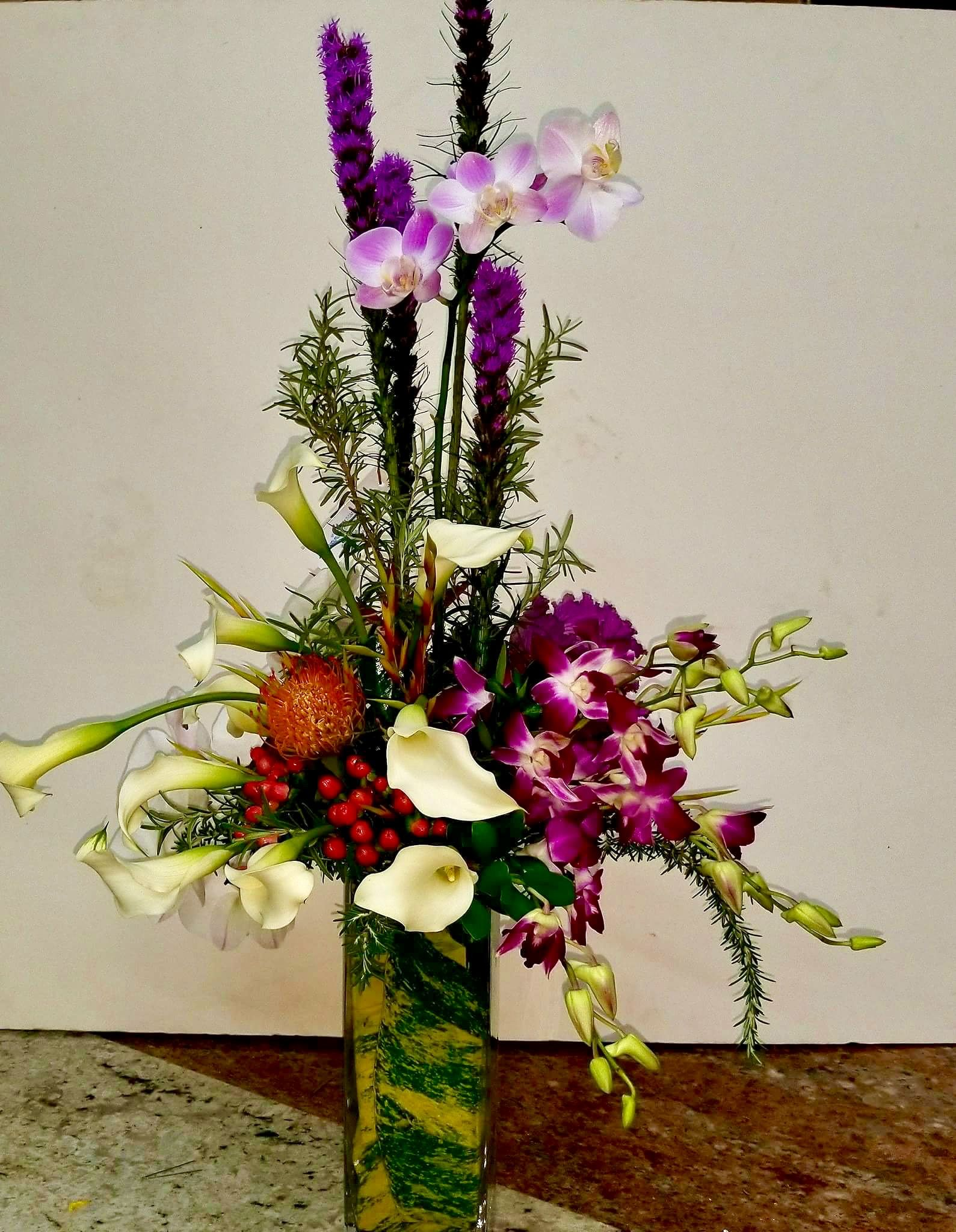 Design By A Marc In Design Ft Lauderdale Fl Same Day Flower Delivery Flower Delivery Hanging Flowers