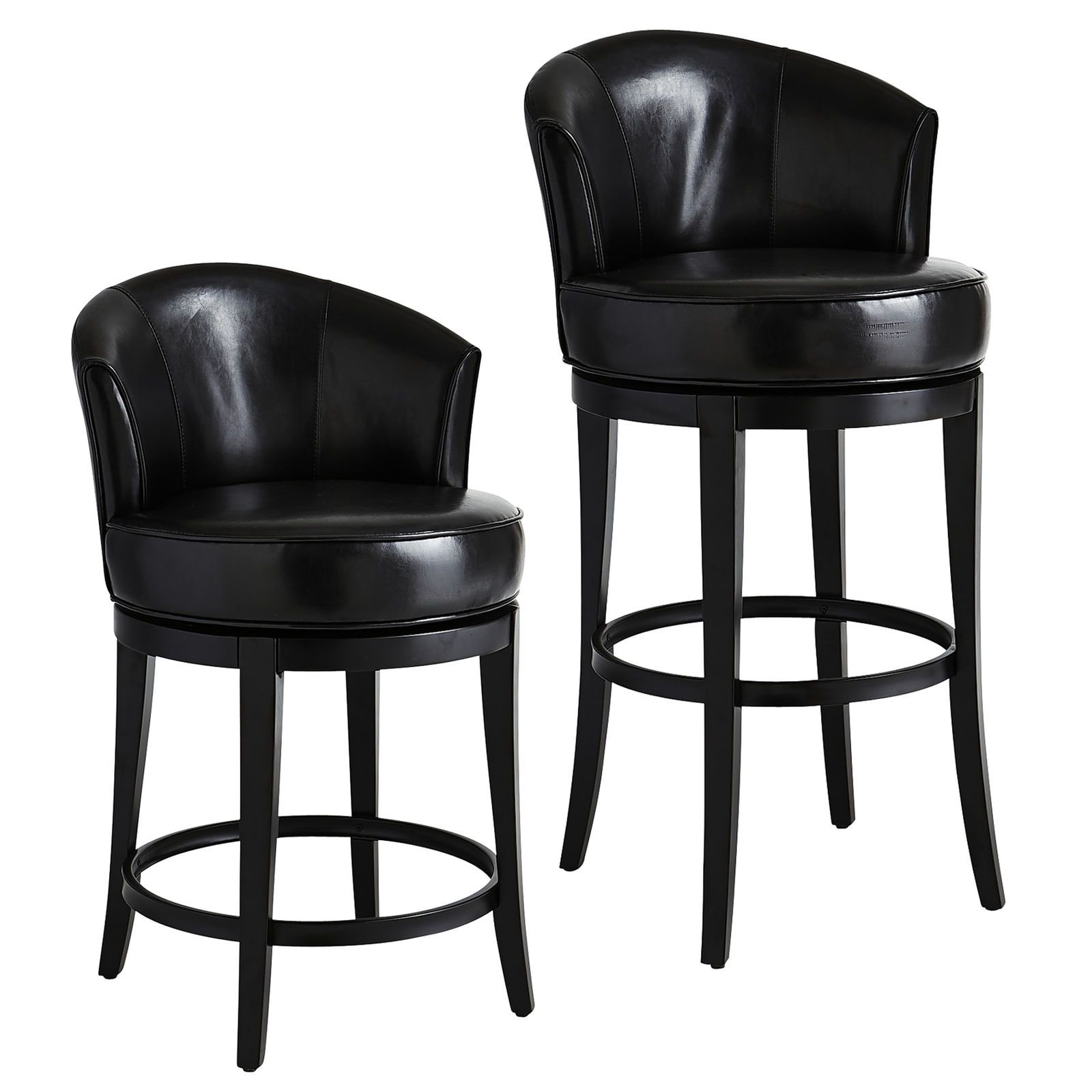 Isaac Black Swivel Counter Bar Stool Pier 1 Imports Leather