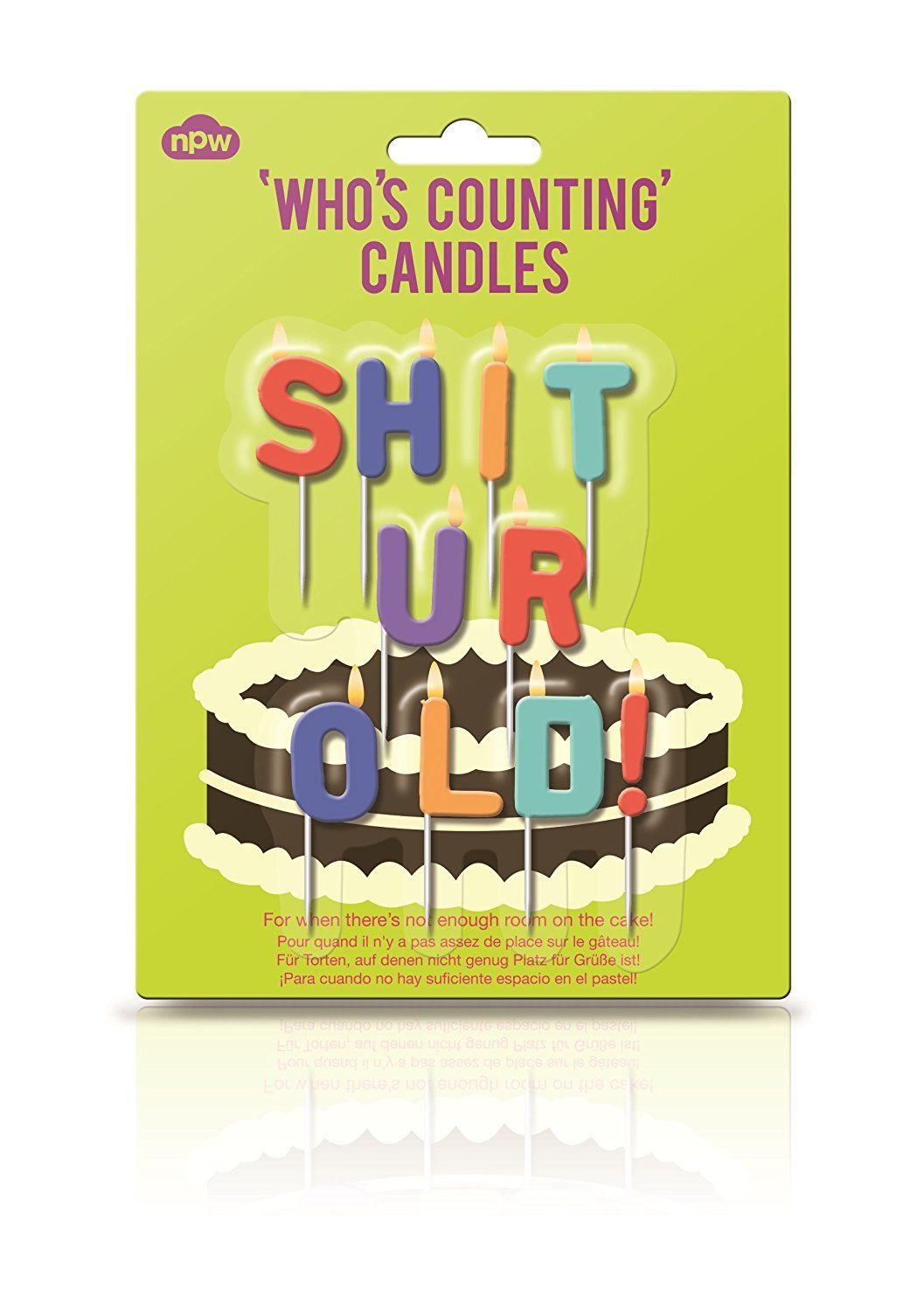 Whos Counting Shit UR Old Candles Rude Novelty Birthday Cake