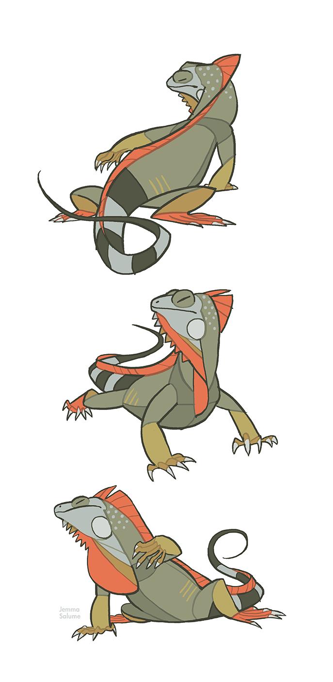 Studies - Iguana by oxboxer.deviantart.com on @deviantART | Iguana ...