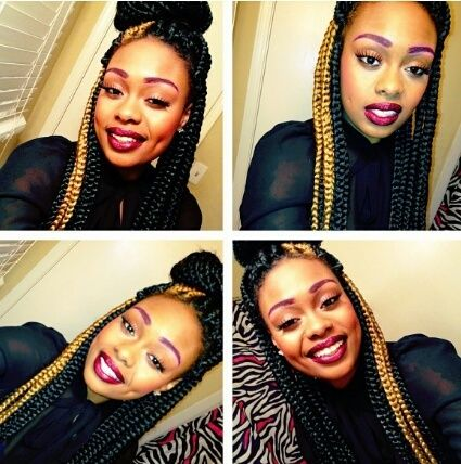 Strange Box Braids Braids Pinterest Follow Me Black And Blonde And Ties Hairstyles For Women Draintrainus