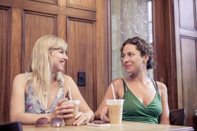 lesbisches erstes Treffen