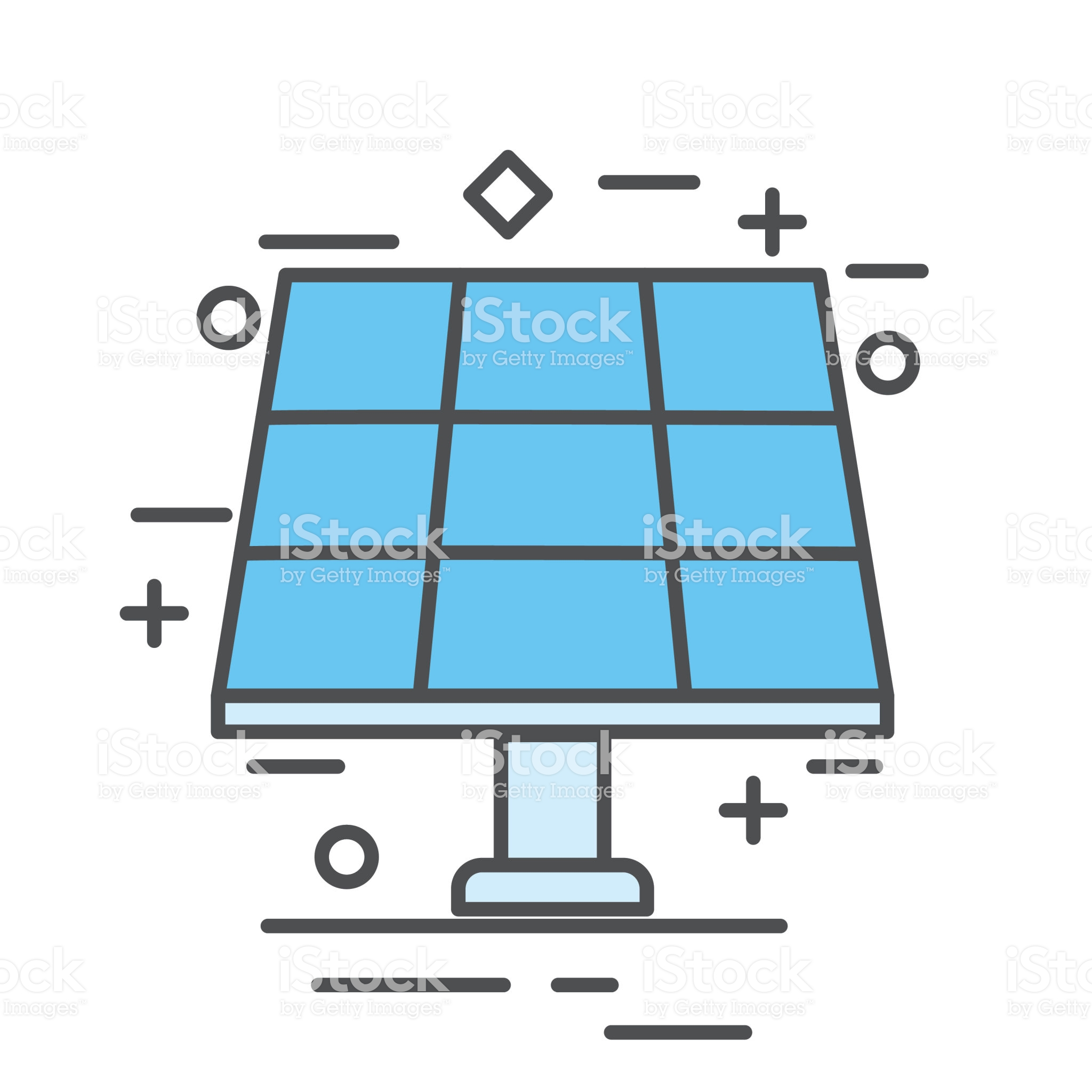 Solar Panel Environment Icon In Thin Line Flat Design Style Solar Energy Projects Alternative Energy Solar Energy Business