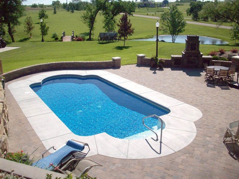 Inground Pool Patio Designs 3 story mansion with large pool surrounded by rocks with grey rock patio Inground Pool And Patio Ideas Valleyscapes Specializes In Designing And Installing Paver Patios