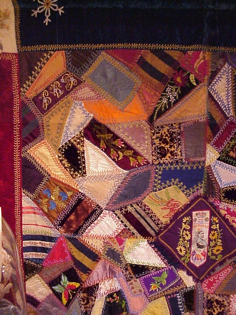 I ❤ crazy quilting & embroidery . . . Queen Victoria Crazy Quilt