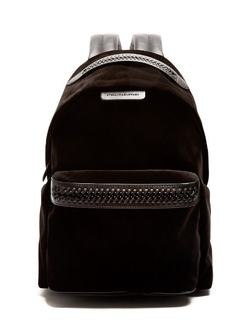 bd4c25e17bd4  stellamccartney  bags  leather  velvet  backpacks  lace