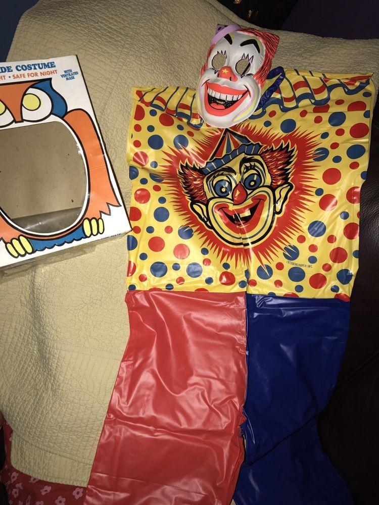 Vintage Ben Cooper Children's Creepy Clown Halloween