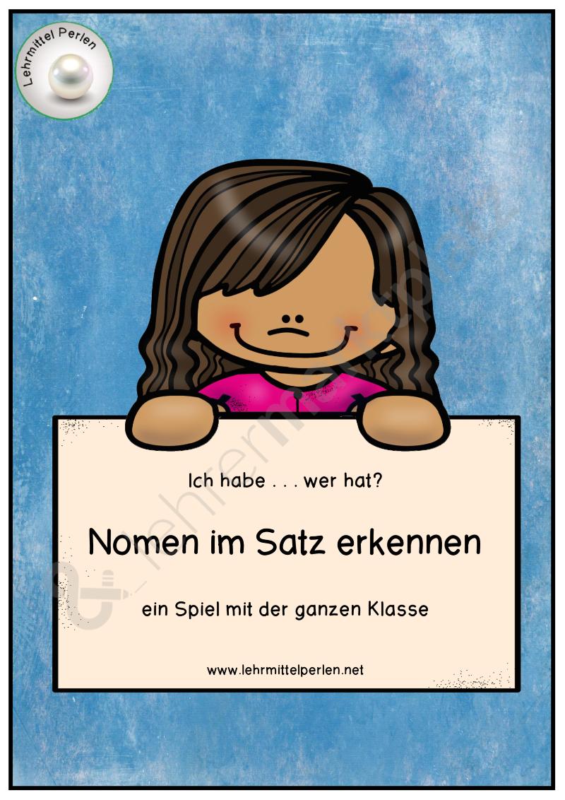 kartenspiel zu wortarten ich habe nomen unterrichtsmaterial im fach deutsch bestseller. Black Bedroom Furniture Sets. Home Design Ideas