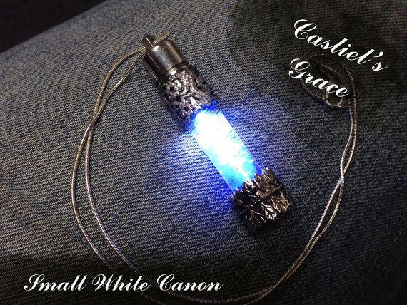 Castiel S Grace Necklace Small White Canon By Nevenebrez On Etsy