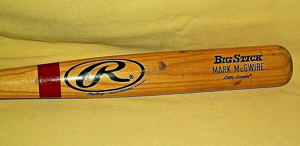 MARK MCGWIRE BAT BASEBALL RAWLINGS ADIRONDACK WOODEN BIG
