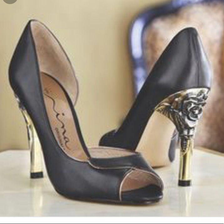 997df31edea Nina Shoes | Selma Rose Heels By Nina | Color: Black/Gold | Size ...