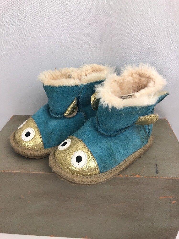 02afaf02fb3 Emu Boots Little Creatures Walker Fish 18-24 Months Toddler Suede ...