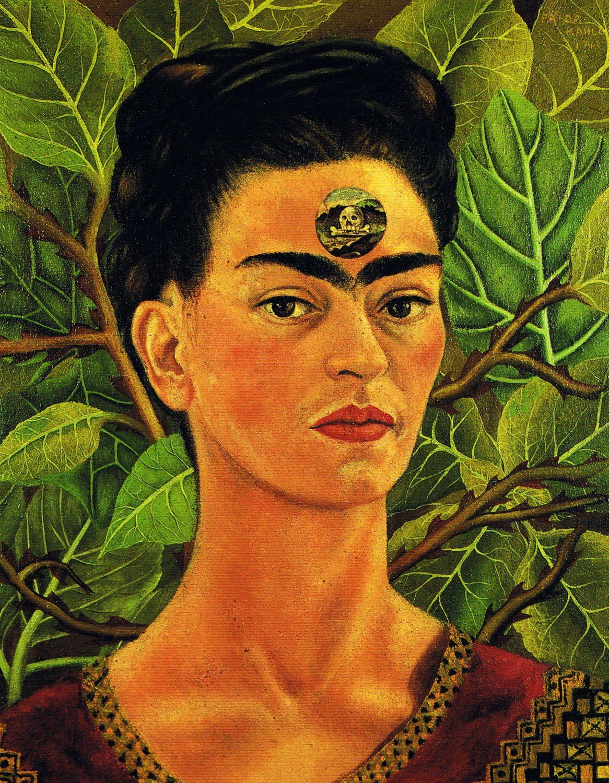 Frida Kahlo – Self-Portrait, Thinking About Death | Pinterest ...