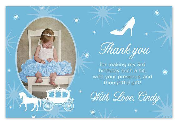 Disney Cinderella Birthday Thank You Card With By Paperheartsbyj
