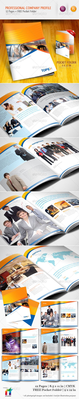 Professional Company Profile Brochure Template – Professional Business Profile