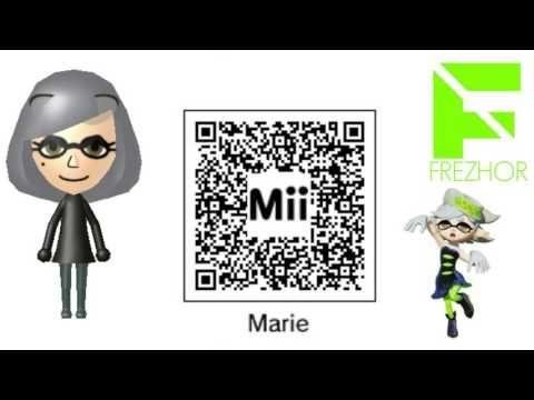 Mii Maker - Marie from Splatoon Mii Free giveaway QR Code