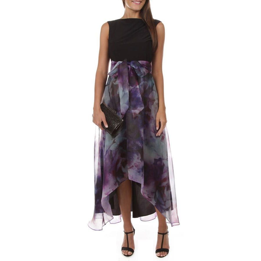 Ignite Evenings High Low Floral Organza Dress Von Maur Dresses Dresses Organza Dress [ 900 x 900 Pixel ]
