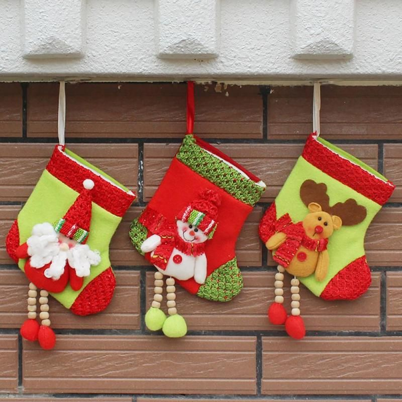 New Year Mini Christmas Stockings Socks Santa Claus Candy