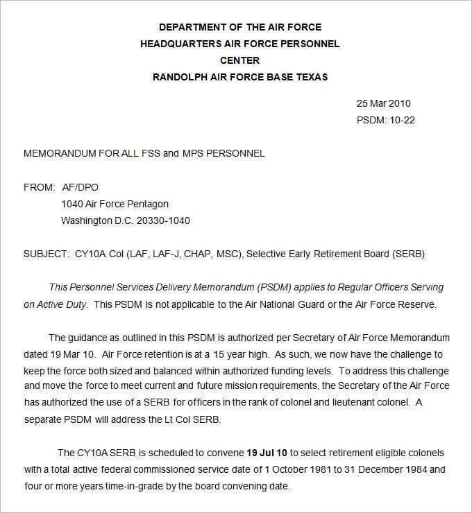 army memorandum templates  word excel fomats  memorandum