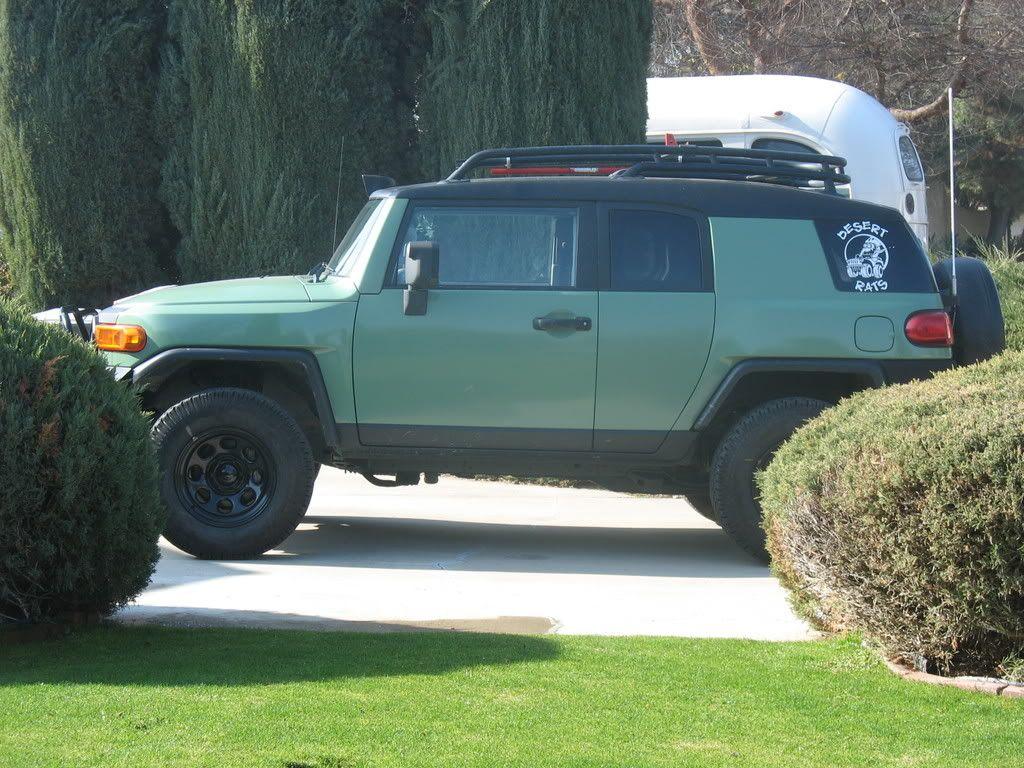 Green FJ Cruiser | Olive Green and Black FJ