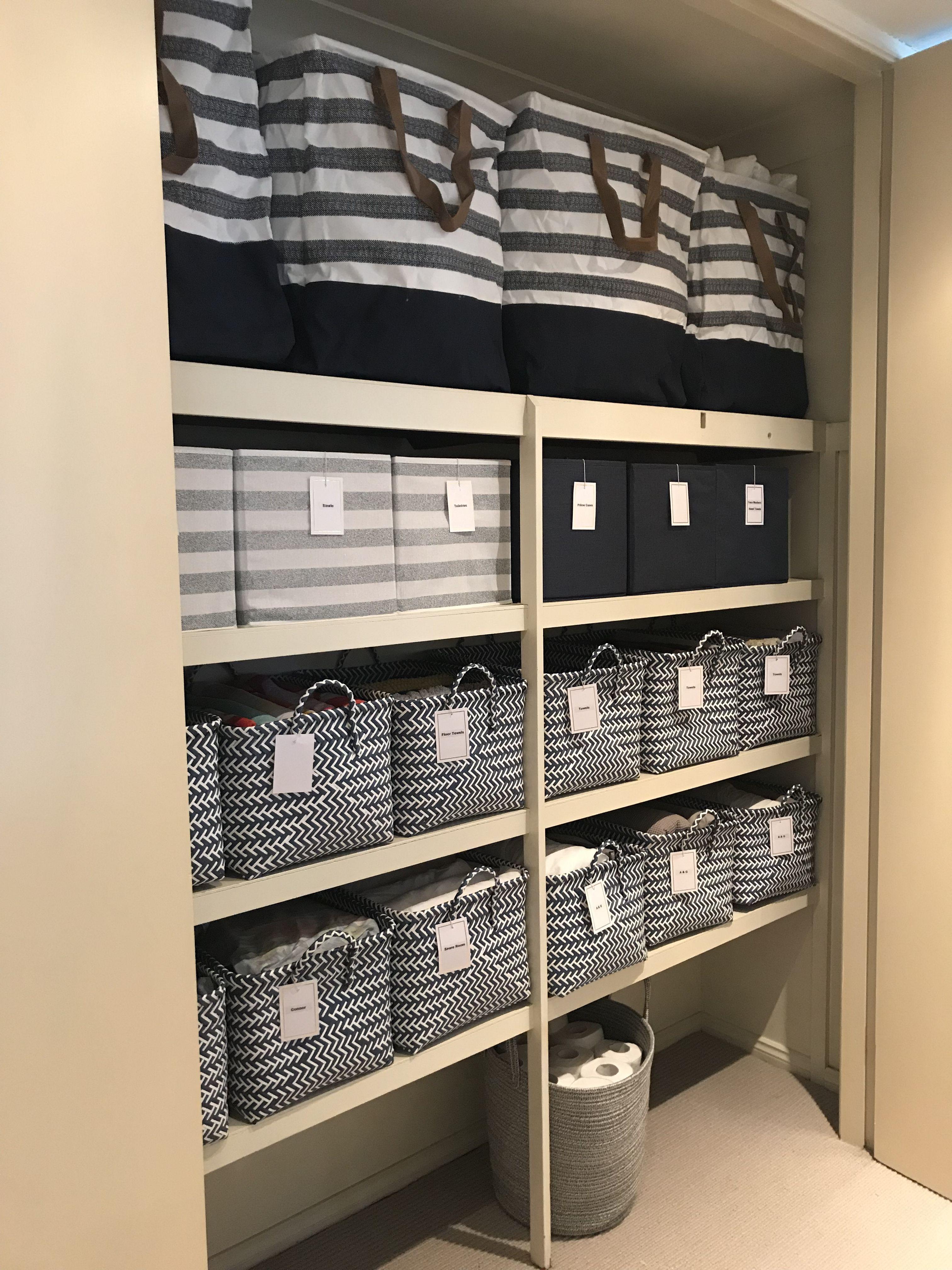 Kmart linen cupboard   Linen cupboard, Linen closet storage ...