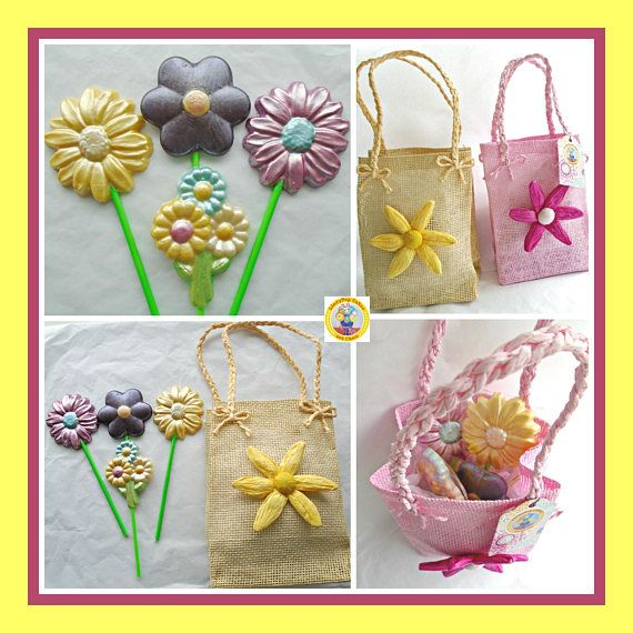 Chocolate Flower Gift Bag/Edible Flower Bouquet/Gift For Her/Flower ...