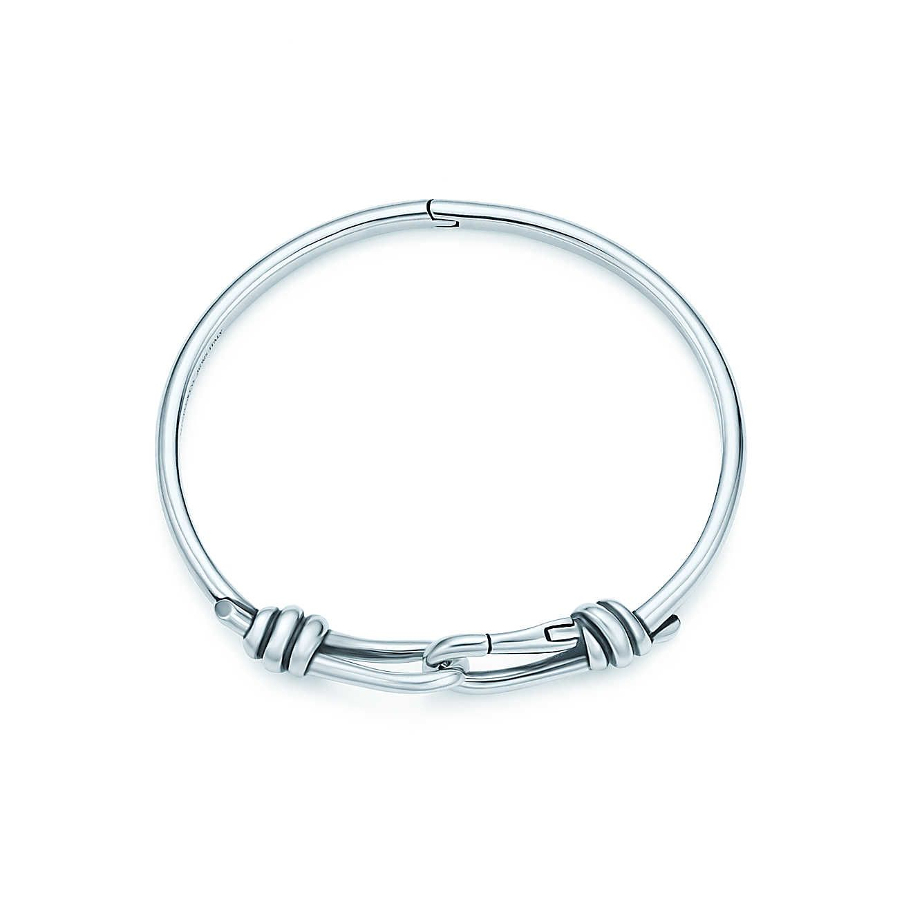 dc03f9e18 Paloma Picasso® Knot Hinged Bangle Paloma's sleek design for men. Bangle in  sterling silver. Medium, fits wrists up to 6.25