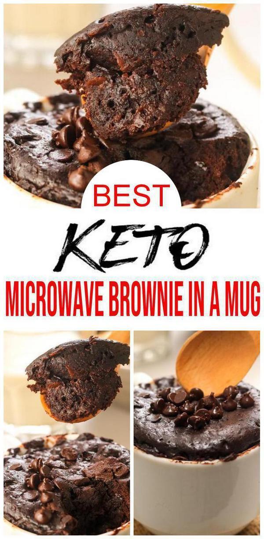 Check out this keto chocolate brownie mug cake. Easy keto ...