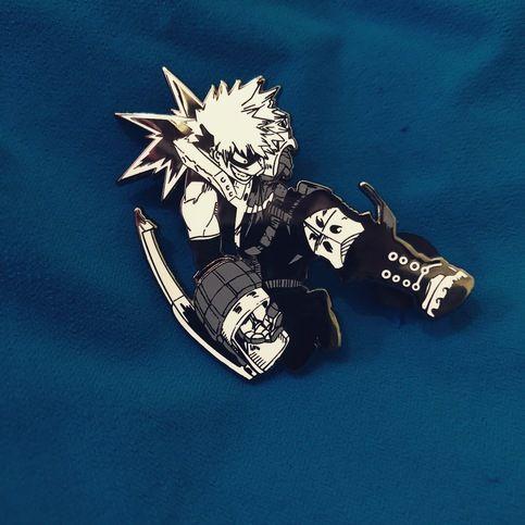 BAKUGO!! 2 Inch Hard Enamel Pin Pin based on fan art by ...