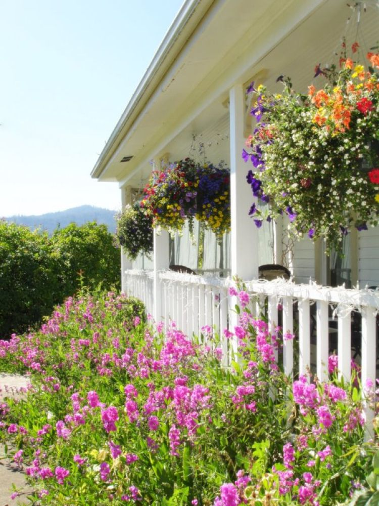 Bring A Glimpse Of The Garden To Your Front Porch By Hanging Baskets Flowers Using Easy Install Hooks