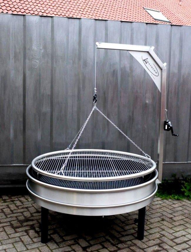 schwenkgrill et barbecue bois charbon en inox fabriquer votre barbecue pas cher en 2018. Black Bedroom Furniture Sets. Home Design Ideas