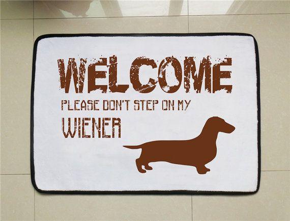 Wiener Dog Door Mat Funny Welcome Mat Dog Lovers Gift