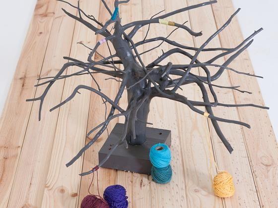 Decorate your home with this #diy branch art versier jou huis met