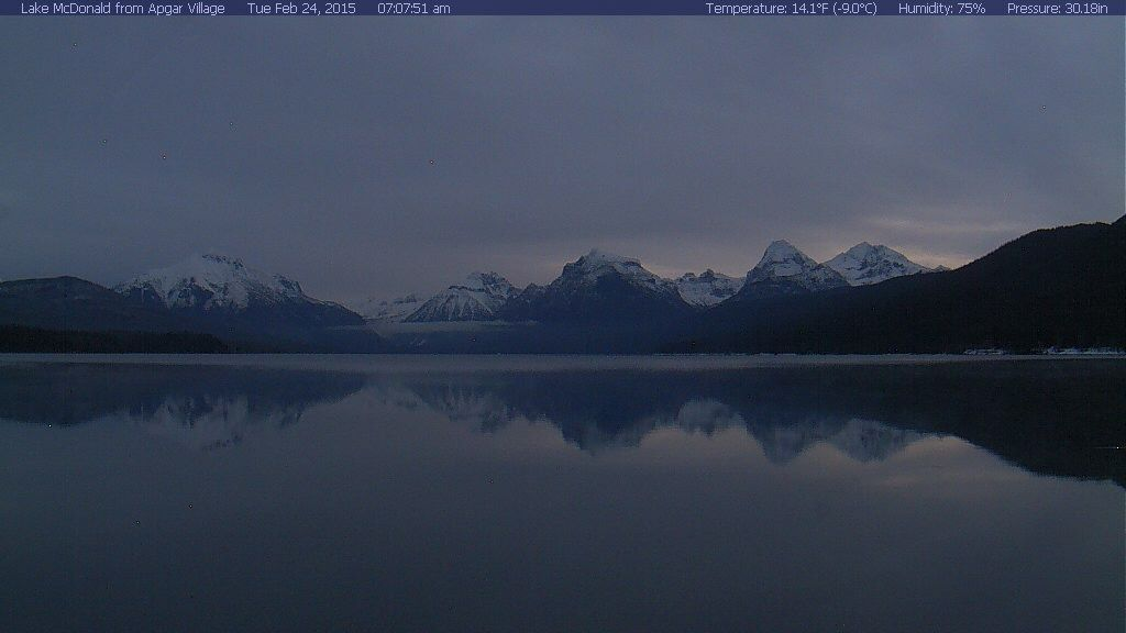 Image from the Lake McDonald Webcam