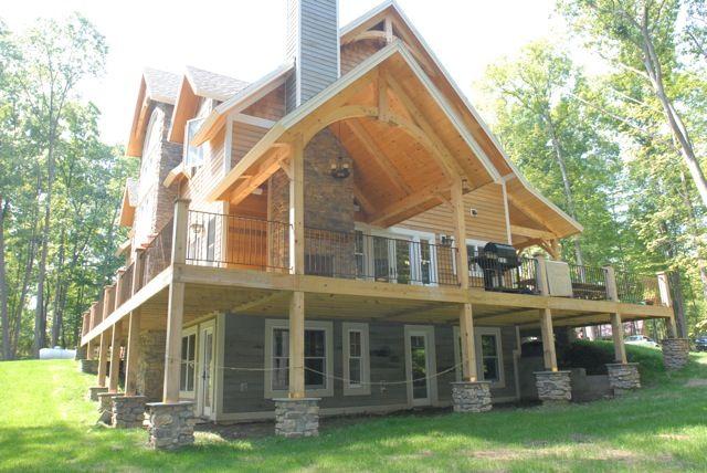 Amazing wrap-around porch!!   Dream house exterior, Log homes ...