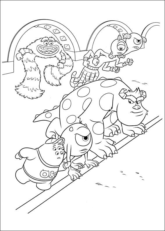 Monsters Inc. - University Coloring Pages 39 | Coloring Pages ...